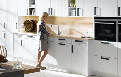 Your Modern Country Kitchen, natural sensuality meets ecological awareness. Crystal White Matt Texured Lacquer.